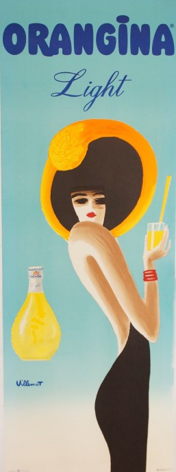 affiche villemot orangina light