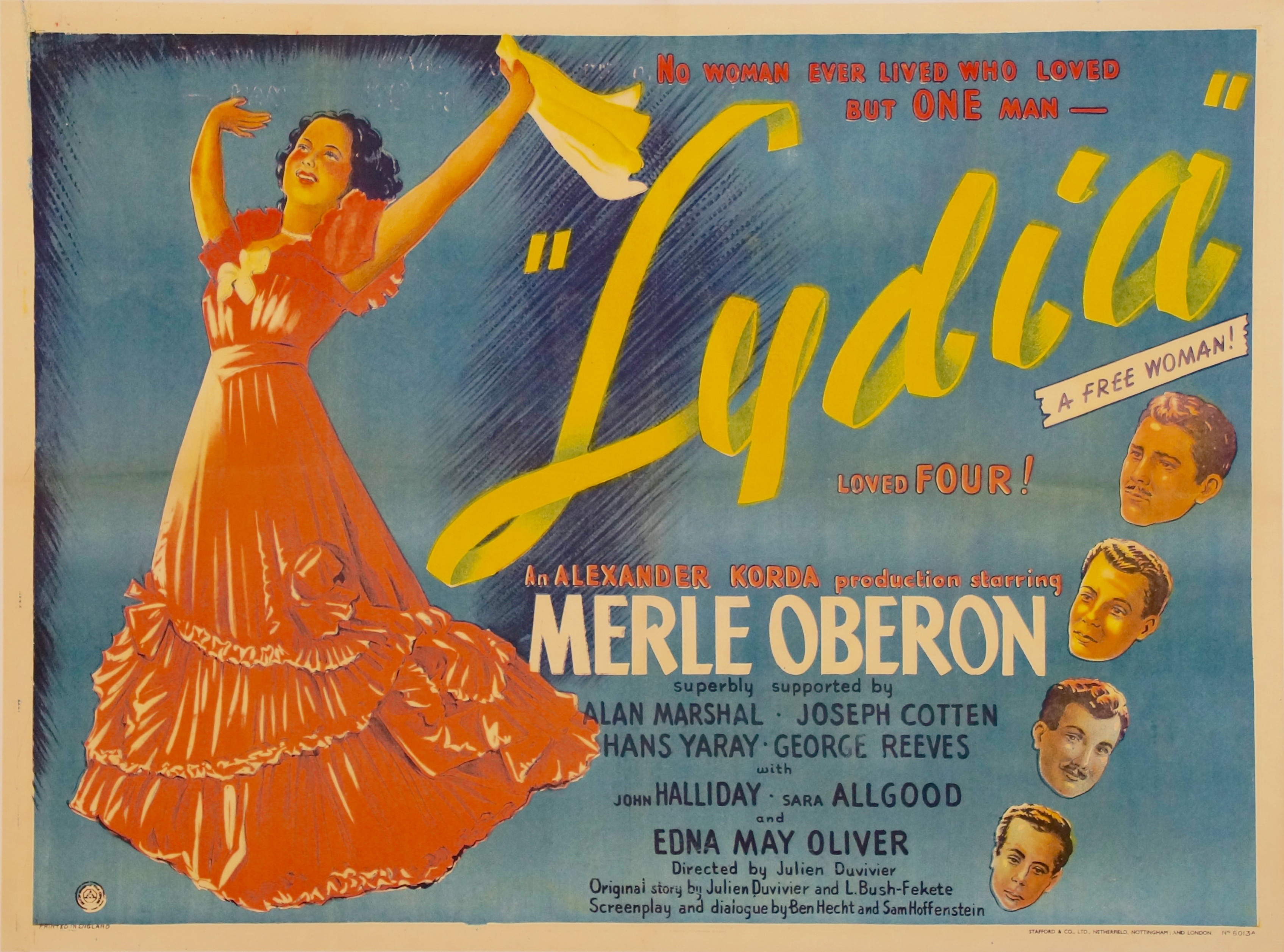 Old movie poster Lydia
