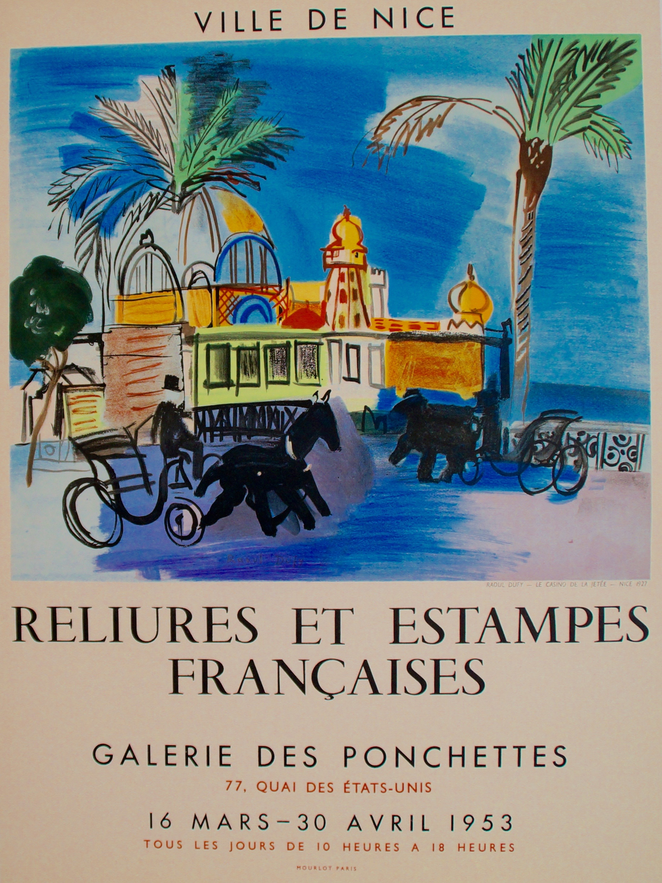 old poster raoul dufy
