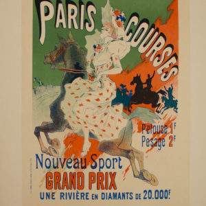 Affiche Paris courses, Cheret
