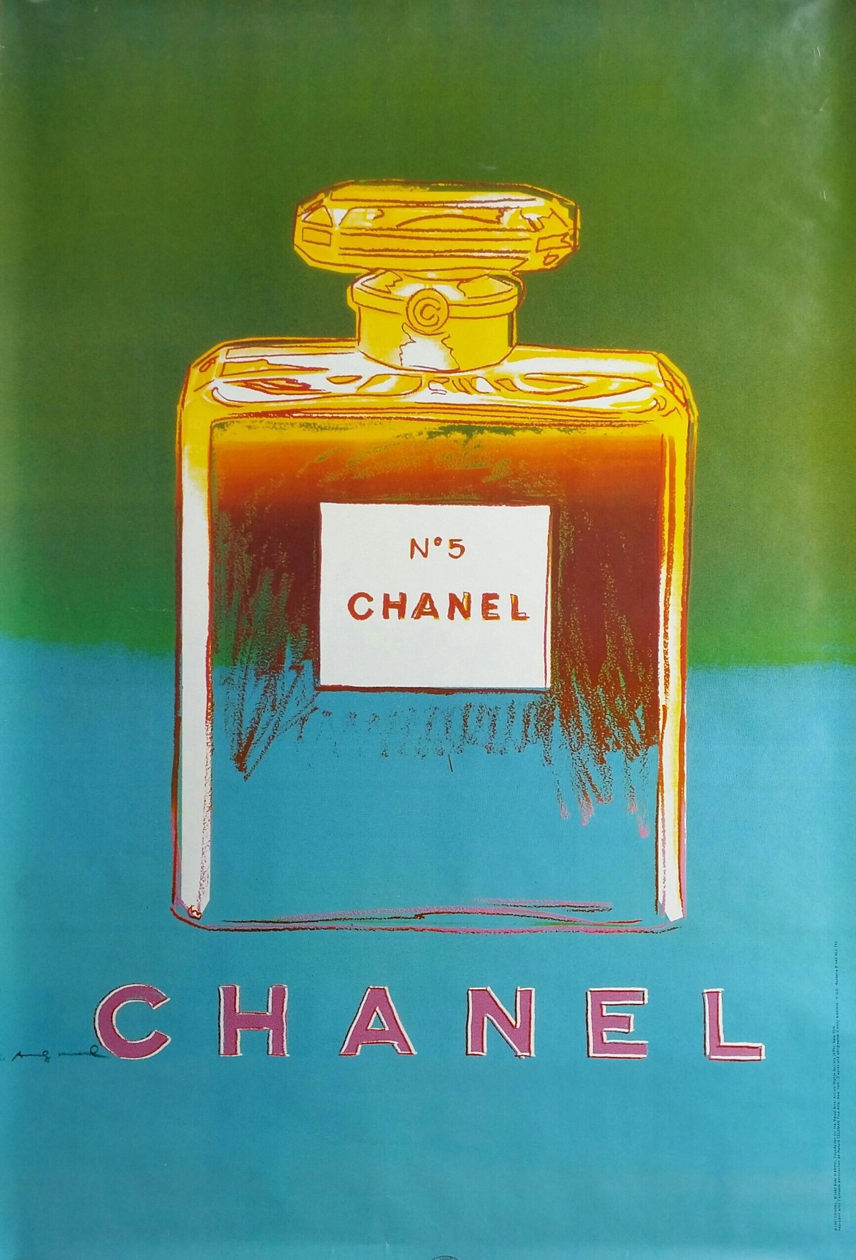 chanel n 5 andy warhol l 39 affiche fran aise. Black Bedroom Furniture Sets. Home Design Ideas