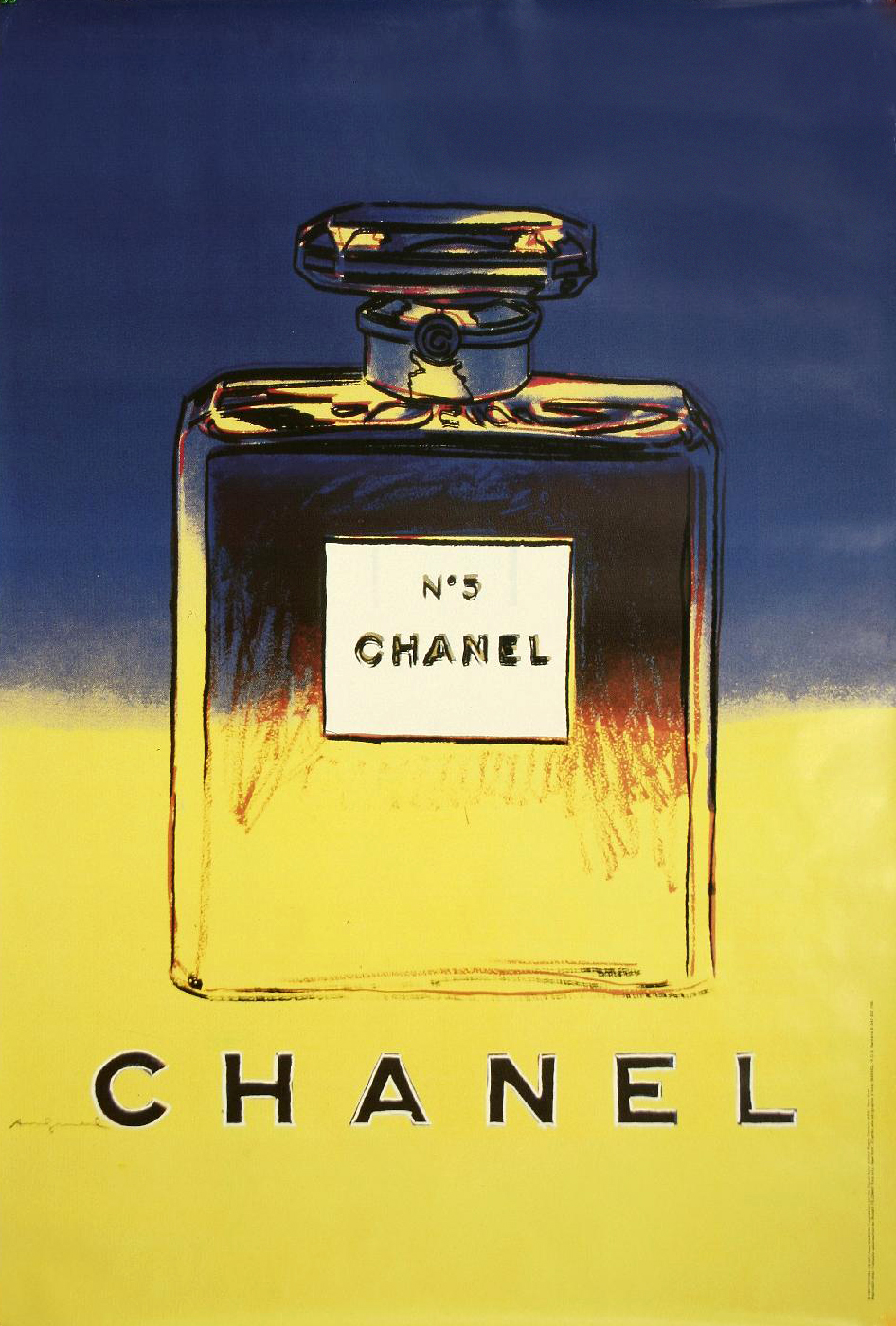 parfum chanel n 5 andy warhol l 39 affiche fran aise. Black Bedroom Furniture Sets. Home Design Ideas