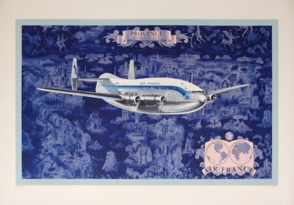 Affiche air france Breguet 763 lucien boucher
