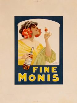 old poster fine moris Clerice