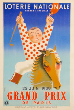 vintage poster Derouet loterie nationale