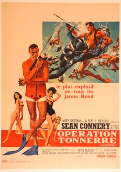 Affiche cinema original james bond operation tonnerre