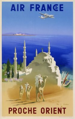 Affiche Air france Proche Orient Even