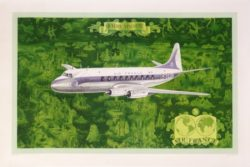 affiche original air france vickers viscount lucien boucher 1953