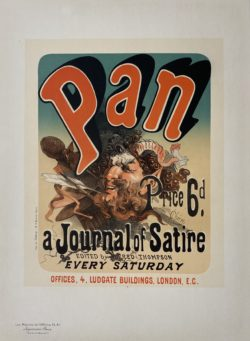 affiche ancienne maitre de l'affiche planche 81 : Jules Cheret, Pan, a Journal of Satire