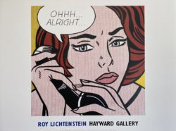 Affiche originale Roy Lichtenstein Hayward 1964 Gallery